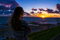 DSC_2333 (Kaloyan Cholakov) Tags: sunset sea color clouds vivid aberystwyth