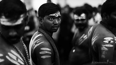 Singapore (ale neri) Tags: street portrait people blackandwhite bw asian singapore dof indian streetphotography hindu hinduism thaipusam aleneri alessandroneri