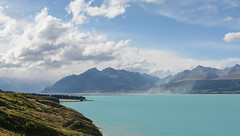 Lake Pukaki (Jan van_Dijk) Tags: newzealand meer canterbury nz glaciers southisland moraine lakepukaki nieuwzeeland morainelake benohau mackenziebasin