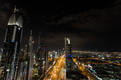 Sheikh Zayed Road || Dubai (David Marriott - Sydney) Tags: road night four dubai zayed points sheraton sheikh unitedarabemirates ae