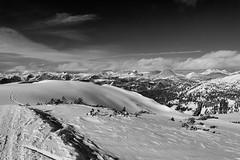 Monochrome mountain landscape III. (Petr Horak) Tags: winter sky bw mountain snow mountains alps nature monochrome landscape austria outdoor horizon