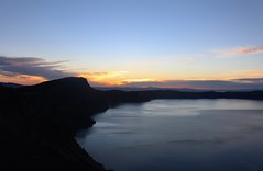 Crater Lake, Oregon (elisecavicchi) Tags: morning light summer mountain lake nature clouds oregon sunrise dawn early view pacific northwest first ridge crater vista ripples pnw