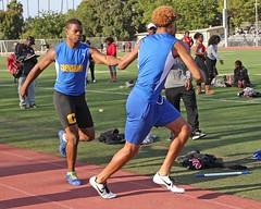 D151455A (RobHelfman) Tags: sports losangeles track highschool trackmeet crenshaw ryancampbell tajwilson