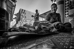 My child...my life  !!! (poupette1957) Tags: life street portrait people urban black art lady canon children temple town photographie lovers rue birmanie grandangle atmosphre noieetblanc humanisme imagesingulires