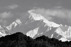 Mt Kanchenjunga monochrome. (draskd) Tags: beautifullight monastery himalayas sikkim gangtok kanchenjunga kanchendzonga himalayanpeak mtkanchenjunga 3rdhighest mtkanchendzonga emchey
