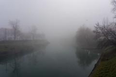 Ljubljana, nebbia fitta sulla Ljubljanica (Carlo Volebele Vay) Tags: travel winter tourism fog slovenia ljubljana nebbia inverno turismo viaggi ljubljanica lubiana slovenjia lubianica