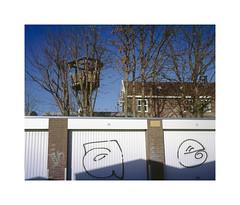 tree house (ha*voc) Tags: urban 120 film haarlem mediumformat rangefinder positive expired 80mm urbanfragments fujiprovia100 mamiya7ii