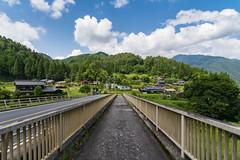 Nakasendo -  (afrigole) Tags: old bridge blue summer sky green nature japan forest river nikon village cross walk historic read      nakasendo    d7100