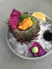 EMC Seafood Woodland Hills sea urchin sashimi (onemorebiteblog) Tags: foodporn seafood uni sfv seaurchin topangacanyon westfieldtopanga laeats losangelesdining dinela emcseafood
