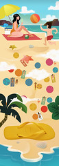 Havaianas Verão 2016 (Works by Issao Bazolli) Tags: colour art praia riodejaneiro illustration digitalart moda scene havaianas verão concept ilustração calor conceptart