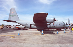 Vatican Transport (Al Henderson) Tags: england unitedkingdom aviation military airshow gb 1998 lockheed usaf hercules raf c130 fairford riat royalairforce c130e popeafb cotswolddistrict 43rdwing 6810937