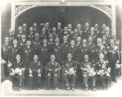 Chief Wiley Williams is pictured with his troops and several civilian officals for the city of Columbus (JayW.) Tags: columbus georgia cops police law