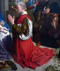 Van der Goes, The Adoration of the Kings (Monforte Altar), detail