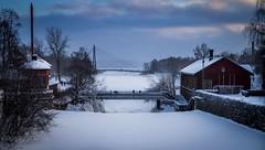 Winterscape (Mika Laitinen) Tags: ocean bridge winter sea sky cloud seascape ice nature suomi finland river landscape waterfall helsinki vanhankaupunginlahti shore uusimaa ef24105mmf4l canon7d