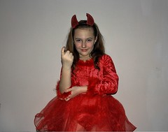 Nice Devil (Juhasz_Attila) Tags: pictures carnival winter red woman white girl by lady female studio children costume spring child dress sweet creative picture made fancy devil attila 2016 juhasz juhsz