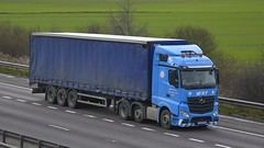 YR12 FFK (panmanstan) Tags: truck wagon mercedes m18 yorkshire transport lorry commercial vehicle freight mp4 langham haulage hgv actros curtainsider