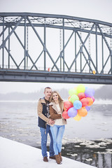patrycja&ukasz.00 (guzik_) Tags: city bridge winter people urban snow love boyfriend balloons 50mm nikon hug girlfriend couple poland polish 50mm14 nikkor d610