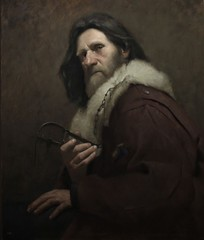 The Trapper, 2011 // by David Gluck (mike catalonian) Tags: portrait male painting 2011 xxicentury 2010s davidgluck threequarterslegth