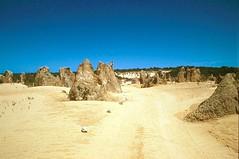 Pinnacle desert, Western Australia (GothPhil) Tags: 35mm scenery rocks december desert kodak australia scanned kodachrome cervantes westernaustralia 1990 asa200 pinnacles landscap rockformation geological nambungnationalpark pinnacledesert