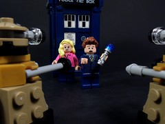 We're In Trouble (MrKjito) Tags: new david rose lego who 10 space sonic suit doctor minifig tardis screwdriver daleks tennant