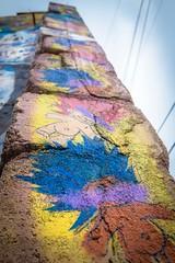 Admiring some teletubby street art; Bisbee, AZ.