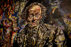 Ivan Albright - The Picture of Dorian Gray (Wawa Duane) Tags: vacation chicago art field museum america state united ivan gothic pablo institute american picasso foo salvador trick fighters wrigley dali cheap 1943 oiloncanvas albright thepictureofdoriangraybyivanalbright