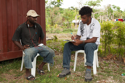 interview in Tanilou village 3