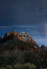 Zion National Park at Night (DGNacho.com) Tags: park panorama utah pano national astrophotography zion utahrocks