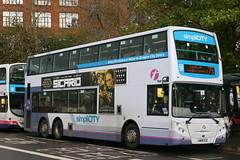 Tri-Axle Olympiad (75) (38212) (Strathclyder) Tags: street scotland glasgow first simplicity alexander 500 dennis caledonia enviro cce stockwell adl e500 38212 firstglasgow de12 sn09 sn09cce olympialivery