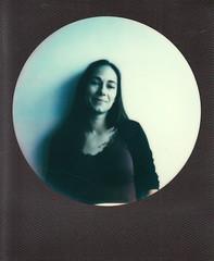 instant film (La fille renne) Tags: woman black film analog polaroid portait 600 round instantfilm polaroidsupercolor645 impossibleproject impossible600 lafillerenne 600blackroundframe
