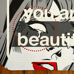 JASON ROWLAND (billy craven) Tags: youarebeautiful streetartchicago stickergame galerief yabsticker
