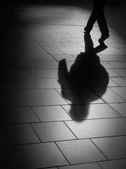 Shadow (tfading) Tags: shadow urban blackandwhite monochrome frankfurt sw weiss schatten schwarz krper