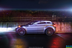 Range Rover Lightpainting (Eric C. (DSO)) Tags: lightpainting black beautiful look car photography wheels creative rr automotive rover headlights daily led pack range luxury lowered cgi evoque dedicatedshoutout