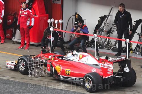 Sebastian Vettel in the Ferrari during Formula One Winter Testing 2016