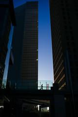 Rush in Shimbashi (TAHUSA) Tags: street leica morning light urban colour reflection japan digital 35mm buildings tokyo early asia geometry f14 snapshot snap summilux asph shimbashi fle 3514 11663 vsco m9p