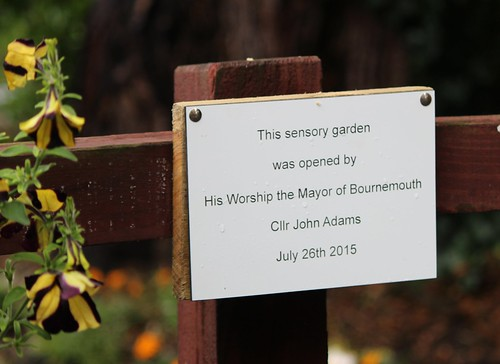 Opening Sensory Garden by Mayor of Bournemouth July 2015 by Chris Colledge