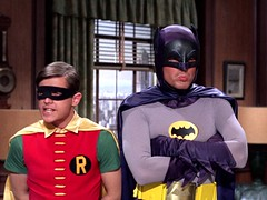 Bat Pouting (Tom Simpson) Tags: robin television vintage angry pout batman 1960s pouting sulking adamwest sulk thegreattrainrobbery burtward vintagetelevision