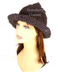 Brown Crochet Hat Womens Hat, Crochet Wide Brim Hat Women, Brown Hat, Summer Hat for Women, SHADY LADY Wide Brim Hat, Crochet Hat (strawberrycouture) Tags: summer brown hat cord strawberry women crochet wide womens couture hemp brim