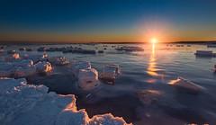 Winter sunrise (Alec_Hickman) Tags: ocean winter sea snow seascape cold ice beach nature water sunrise frozen nikon colours freezing atlantic maritimes waterscape 1635 d810