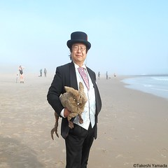 Dr. Takeshi Yamada and Seara (Coney Island Sea Rabbit) at the winter swimming event by the Coney Island Polar Bear Club at the Coney Island Beach in Brooklyn, New York on January 10 (Sun), 2015.  20160110Sun DSCN3352=pC2sq (searabbits23) Tags: winter ny newyork sexy celebrity art beach fashion animal brooklyn asian coneyisland japanese star yahoo costume tv google king artist dragon god cosplay manhattan wildlife famous gothic goth performance pop taxidermy cnn tuxedo bikini tophat unitednations playboy entertainer samurai genius donaldtrump mermaid amc mardigras salvadordali billclinton hillaryclinton billgates aol vangogh curiosities bing sideshow jeffkoons globalwarming takashimurakami pablopicasso steampunk damienhirst cryptozoology freakshow barackobama polarbearclub seara immortalized takeshiyamada museumofworldwonders roguetaxidermy searabbit ladygaga climategate