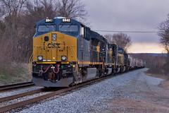 CSX Q582-06 at Dechard, TN (KD Rail Photography) Tags: railroad tennessee trains transportation ge smalltown generalelectric csx manifest smalltownusa emd sd402 tier4 gevo sd403 cw44ah howtomorrowmoves qualityinmotion et44ah