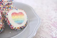 Valentine's Day Cookies (flashfix) Tags: ontario canada cookies nikon ottawa plate sprinkles 40mm rainbows imadethese foodphotography hss 2016 sweetsunday frommykitchen d7000 nikond7000 happysweetsunday 2016inphotos february142016 valentinerainbowheartcookies rainbowheartcookies eugeniecookies eugeniekitchen