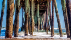 Day 66/366 Virginia Beach Fishing Pier (Tewmom) Tags: ocean beach architecture virginia outdoor wave column virginiabeach virginiabeachfishingpier day66366 mar2016 366the2016edition 3662016 6mar16