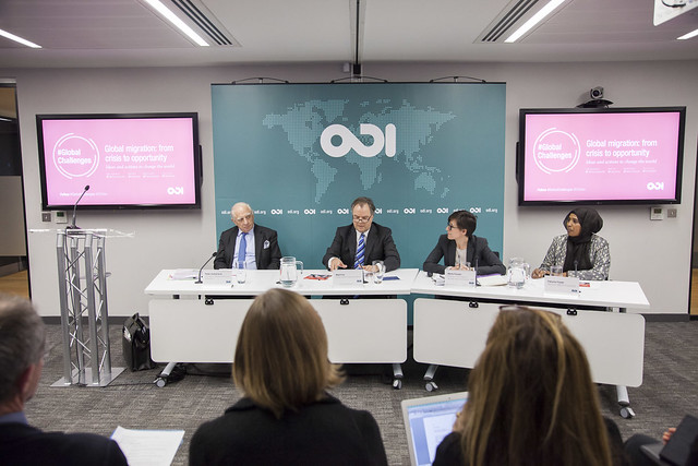 Panel at ODI's event Global migration: from crisis to opportunity
