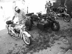 Puch - Zündapp - BMW (John Steam) Tags: classic vintage germany bayern meeting stefan motorbike bmw ww2 motorcycle oldtimer sidecar puch laufen motorrad beiwagen zündapp zuendapp oldtimertreffen seitenwagen r1200r leobendorf 250tf