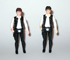 han solo star wars a new hope 1978 kenner action figure large head hong kong coo 3 and 1 variants versions (tjparkside) Tags: new pink blue original light brown 3 black face flesh dark hair lookin rebel hope star big hands looking legs skin action head 4 version large anh pale hong kong glossy solo weapon pistol figure gloss kenner accessories 1978 wars 1977 heavy nerf iv figures smuggler dl episode ep han 44 weapons matte scruffy coo blaster rebels variant dl44 herder molded rebelscum