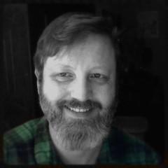 Selfie (swampzoid) Tags: bear gay atlanta blackandwhite bw white haircut selfportrait man black green smile shirt hair beard person photography teeth handsome style barber flannel plaid goodlooking denton caucasian selfie whiteman swampzoid markdenton