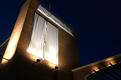 Cloaked (Pedestrian Photographer) Tags: lighting new building brick church public station television sign night lights march mar tv gate veiled secret religion grand front ron nighttime scientology signage l opening cloak unveiling cos nite kcet cloaked ribbet hubbard scientologists 2016 secretive announced