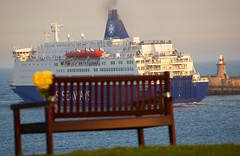(SeeNewcastleUK) Tags: bench ship dfds