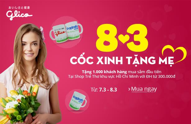 Khuyến mại đặc biệt: Cốc xinh tặng mẹ 8/3 tại Shop Trẻ Thơ Hồ Chí Minh
